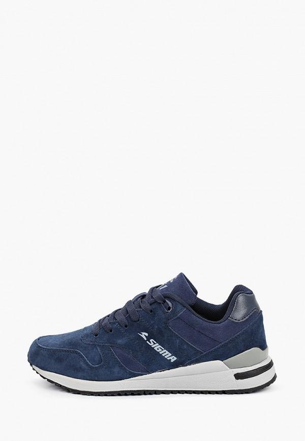 женские низкие кроссовки sigma, синие