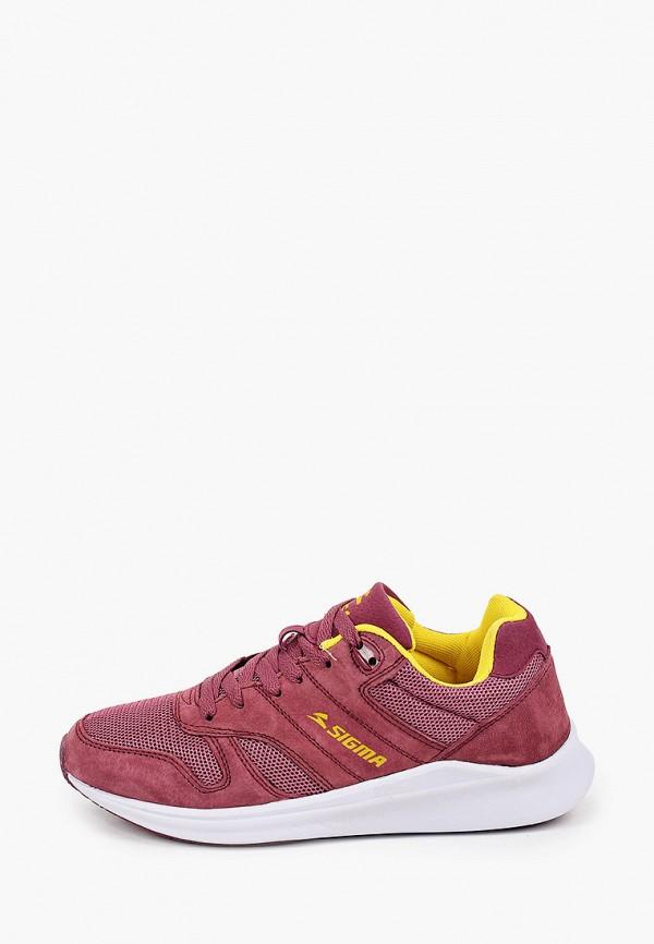 женские низкие кроссовки sigma, бордовые