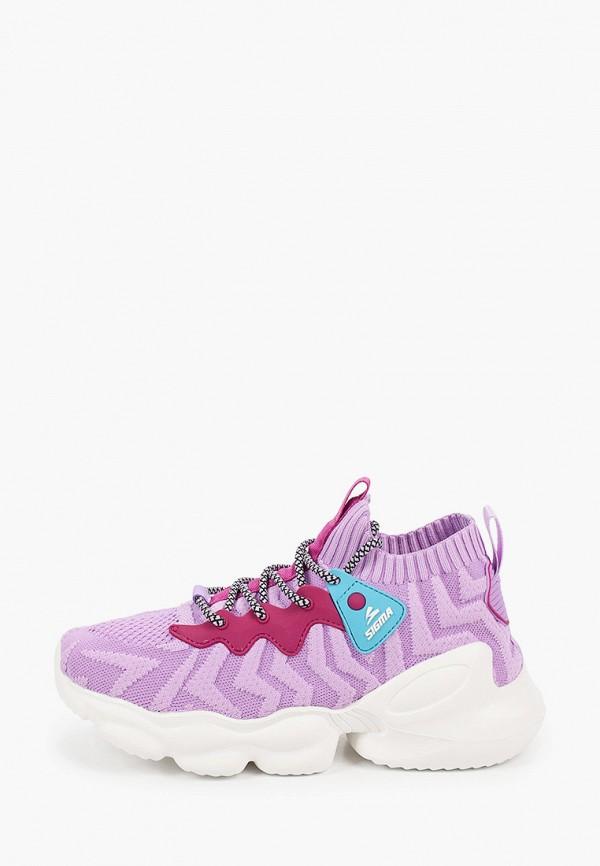 женские высокие кроссовки sigma, фиолетовые