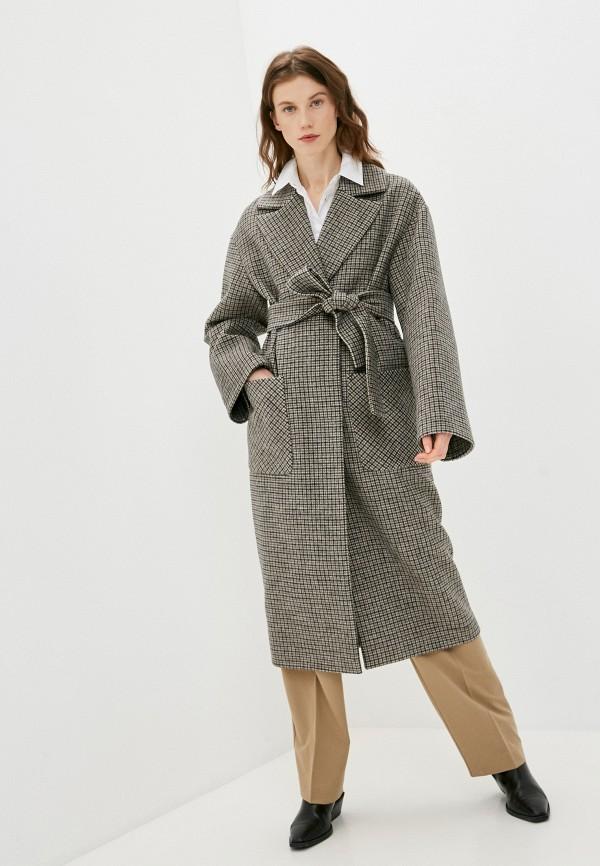 женское пальто paradox, бежевое