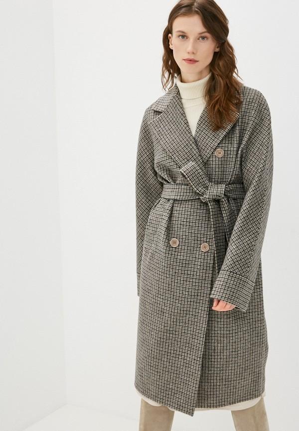 женское двубортные пальто paradox, бежевое