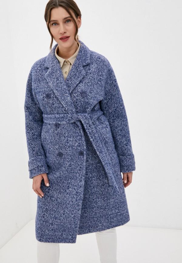 женское двубортные пальто paradox, синее