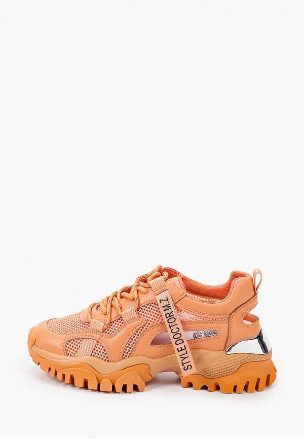 женские низкие кроссовки inario, оранжевые