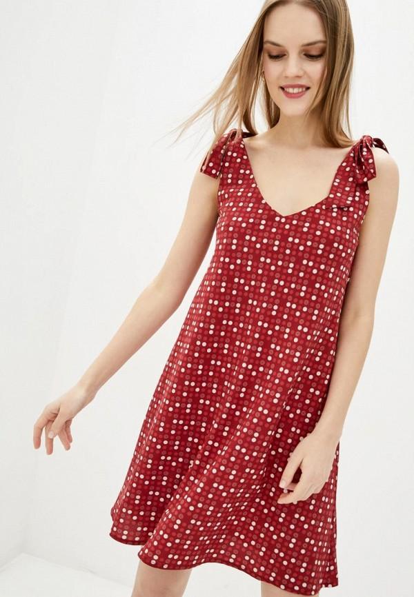 женское повседневные платье jhiva, бордовое