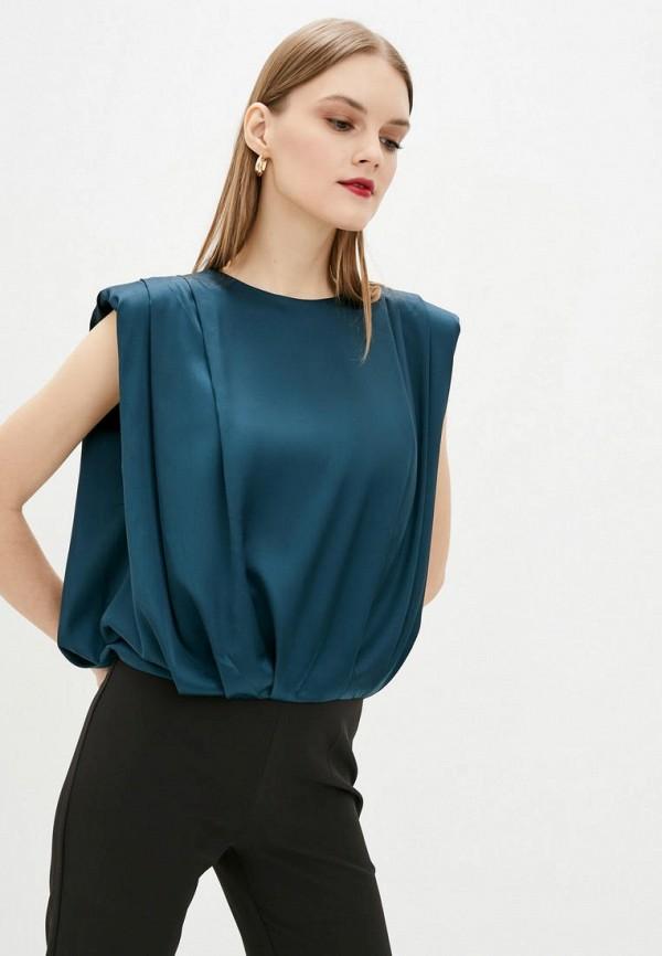 женская блузка jhiva, бирюзовая