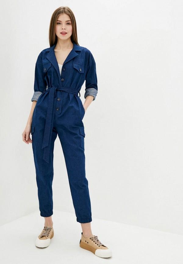 женский джинсовые комбинезон vintages, синий