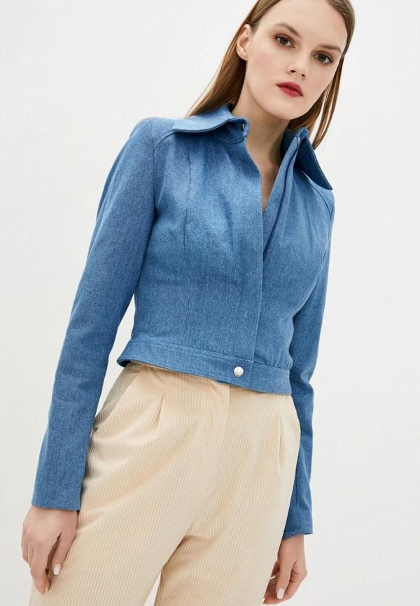 женская джинсовые куртка vintages, голубая