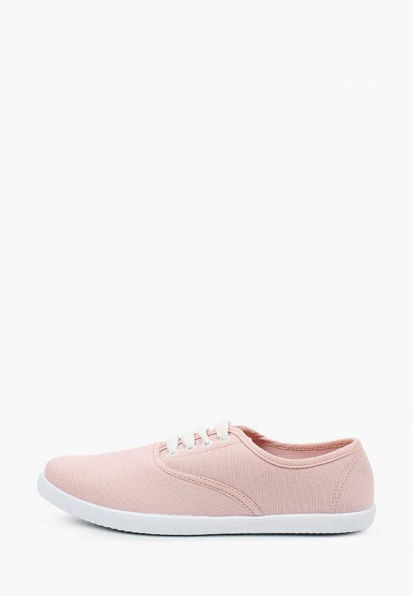 женские низкие кеды nobbaro, розовые