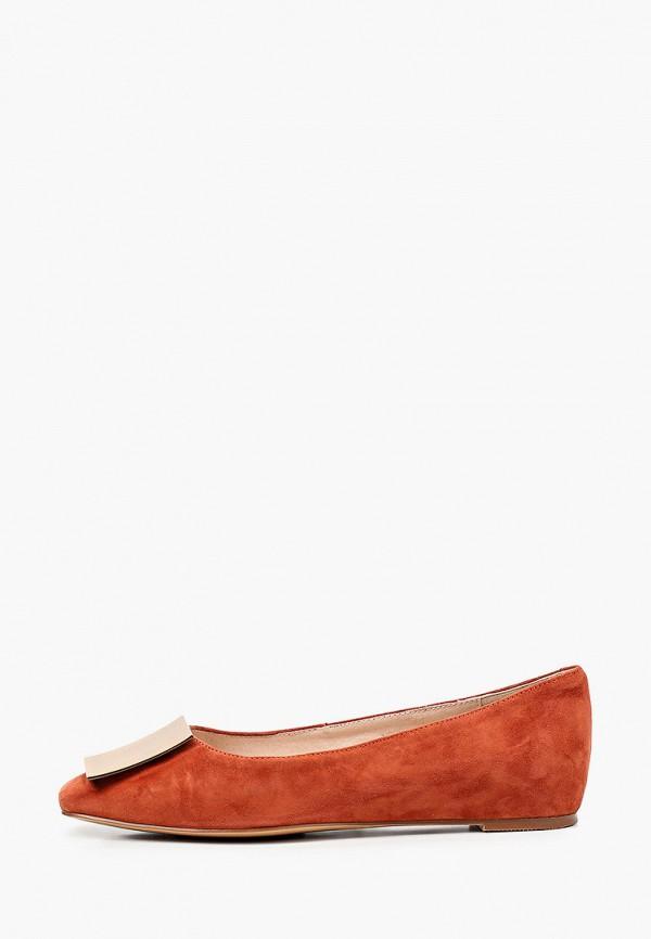 женские балетки el'rosso, оранжевые