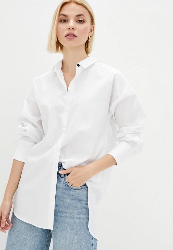 женская рубашка с длинным рукавом week, белая