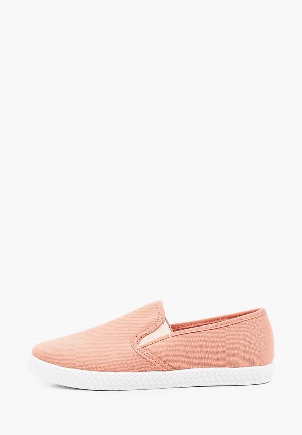 женские низкие слипоны nobbaro, розовые