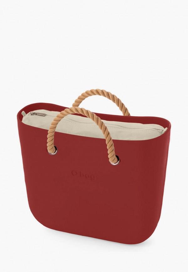 женская сумка o bag, бордовая
