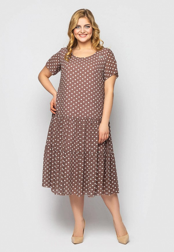 женское повседневные платье vlavi, коричневое