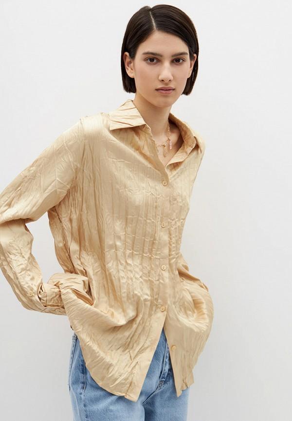 женская блузка с длинным рукавом lime, бежевая