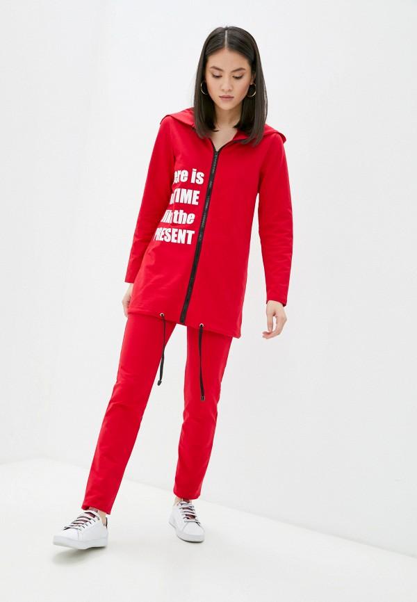 женский спортивный костюм jenks, красный