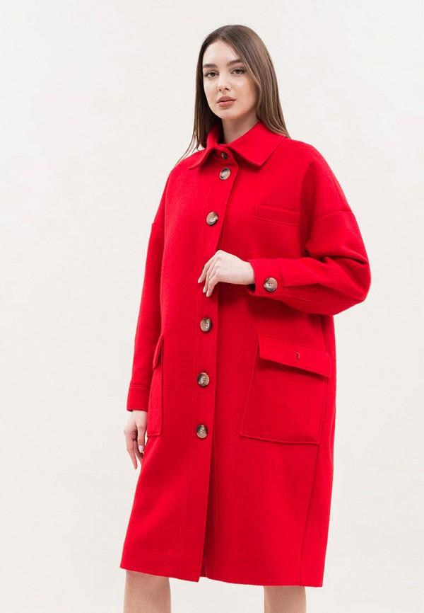 женское пальто maxa, красное
