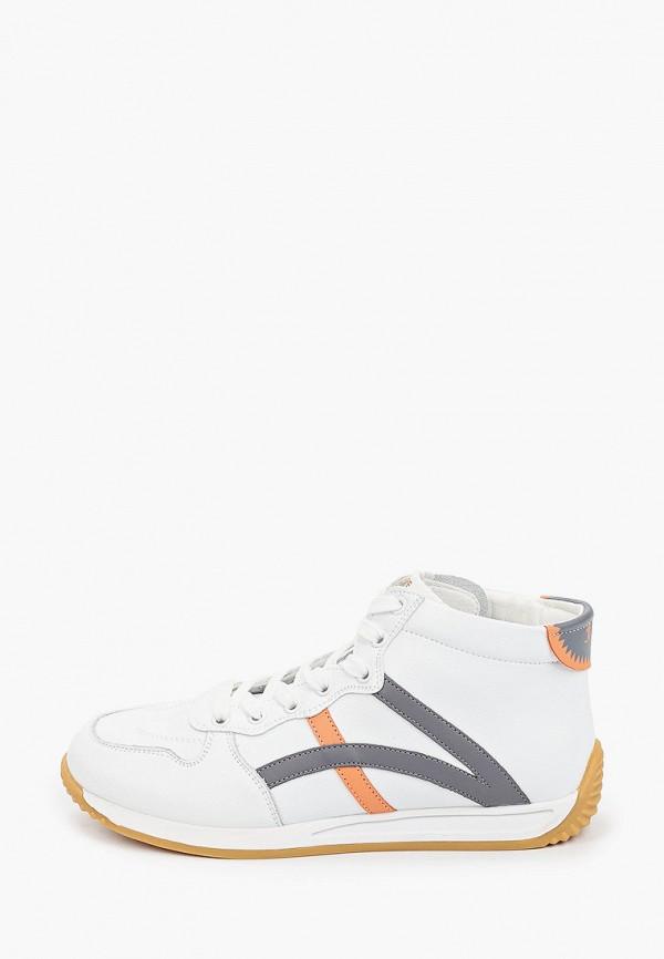 женские высокие кроссовки v.i.konty, белые