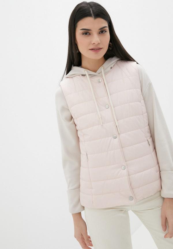 женский утепленные жилет baon, розовый