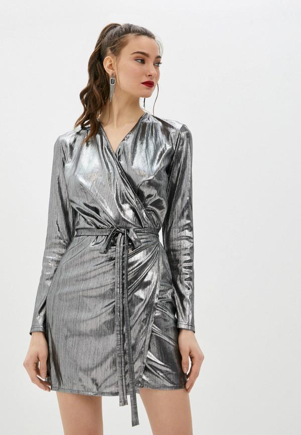 женское вечерние платье m,a,k you are beautiful, серебряное