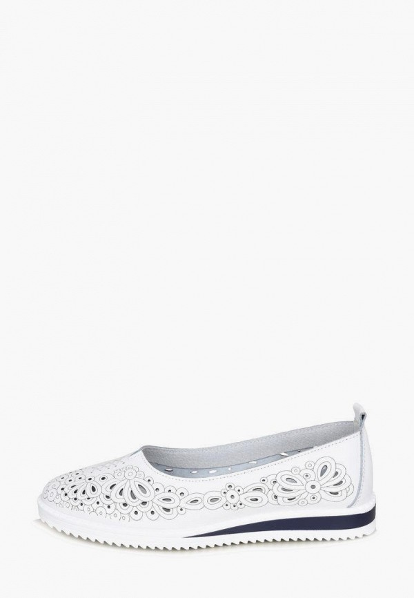 женские туфли с закрытым носом alessio nesca, белые