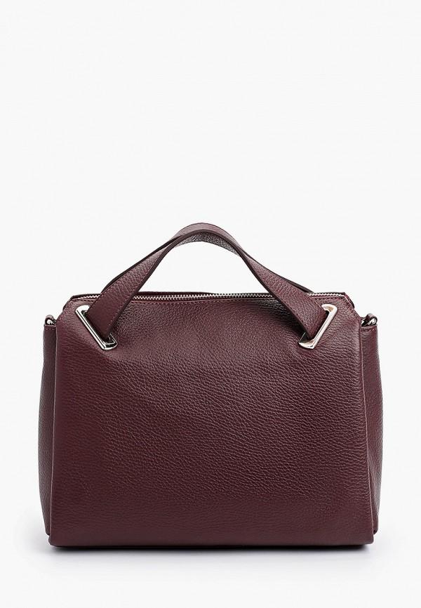 женская сумка с ручками afina, бордовая