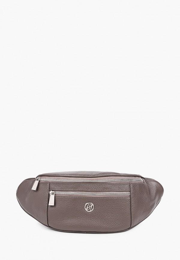 женская поясные сумка afina, коричневая
