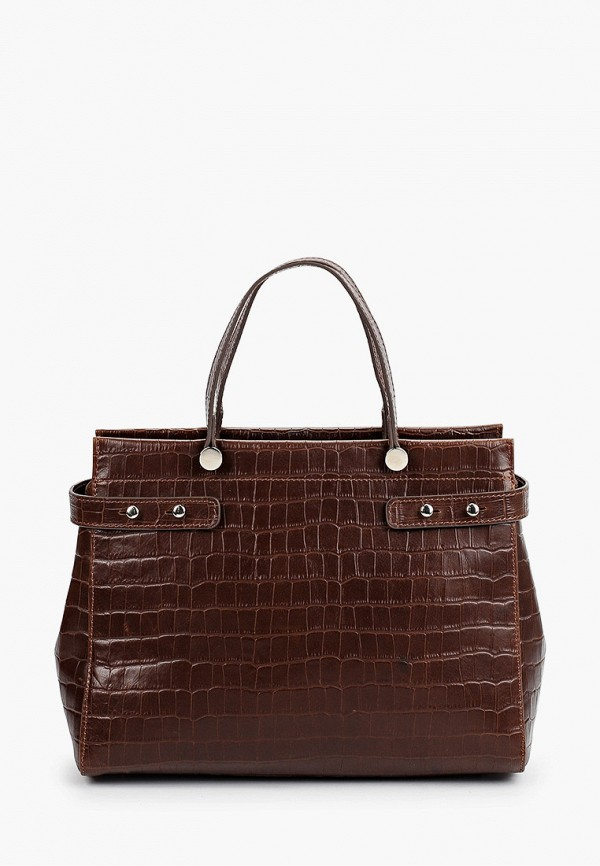женская сумка с ручками afina, коричневая