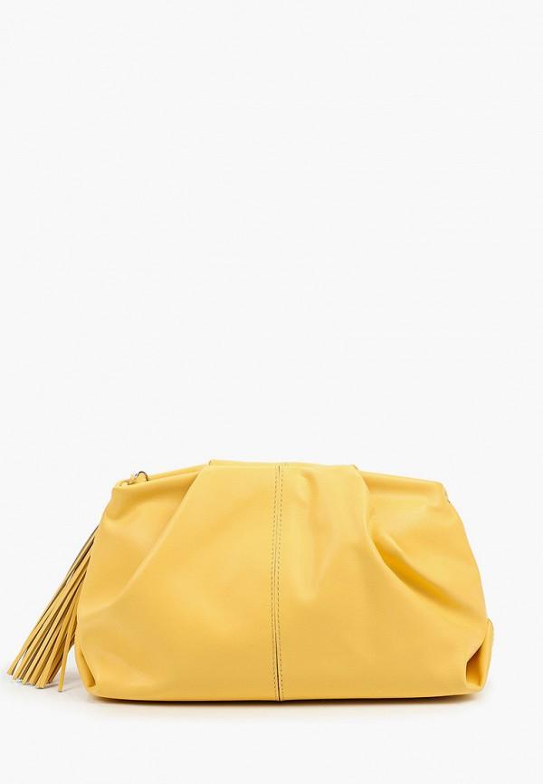 женская сумка через плечо afina, желтая