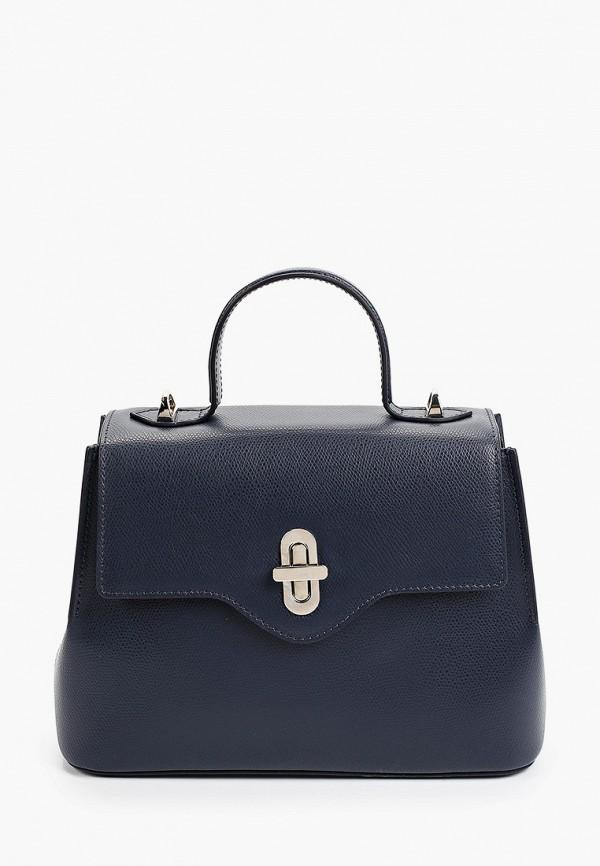женская сумка с ручками afina, синяя