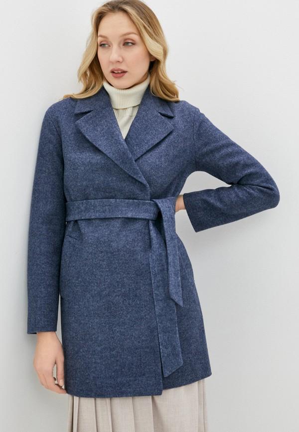 женское пальто снежная королева, синее