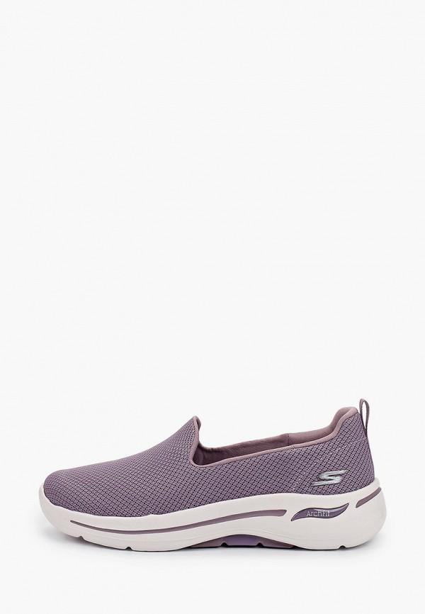 женские низкие кроссовки skechers, фиолетовые