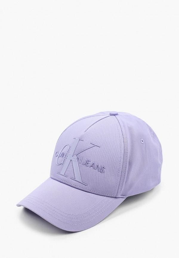 женская бейсболка calvin klein, фиолетовая