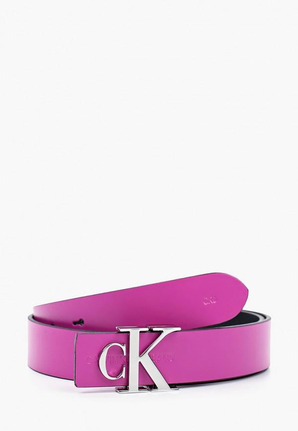женский ремень calvin klein, розовый