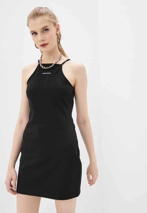 женское платье calvin klein, черное