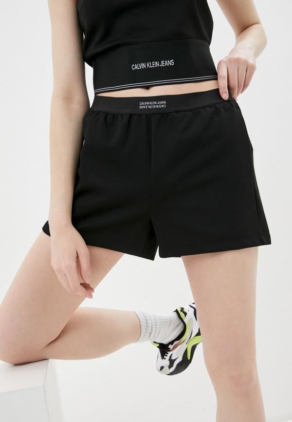 женские повседневные шорты calvin klein, черные