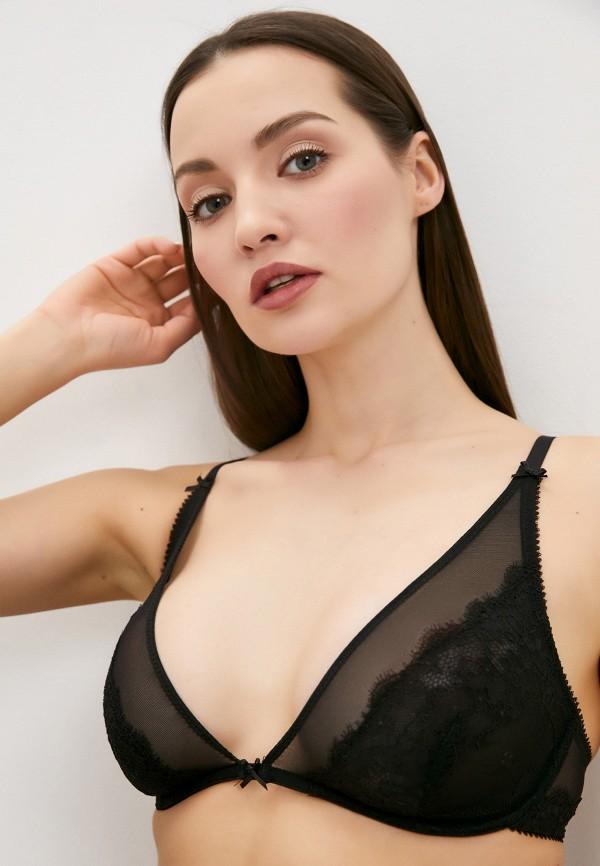женский бюстгальтер на косточках infinity lingerie, черный