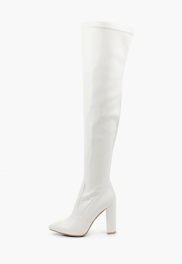 женские ботфорты араз, белые