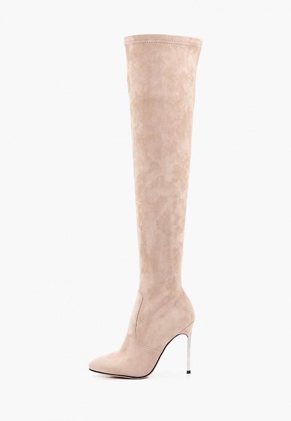женские ботфорты араз, бежевые