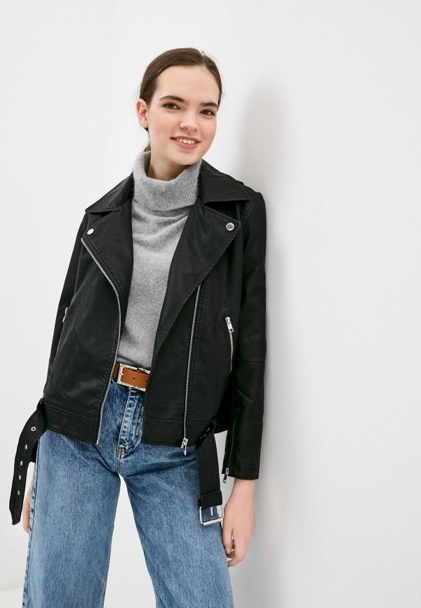 женская куртка косухи concept club, черная