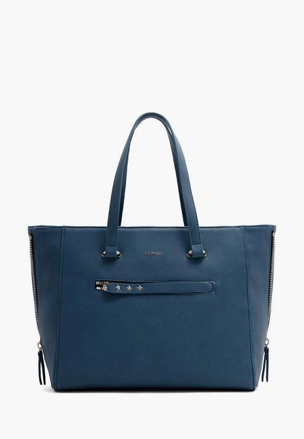 женская сумка-шоперы feltimo, синяя
