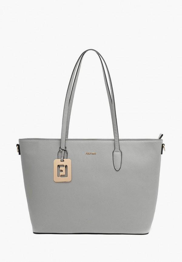 женская сумка-шоперы feltimo, серая
