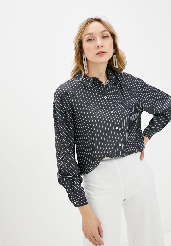 женская рубашка с длинным рукавом alina assi, синяя