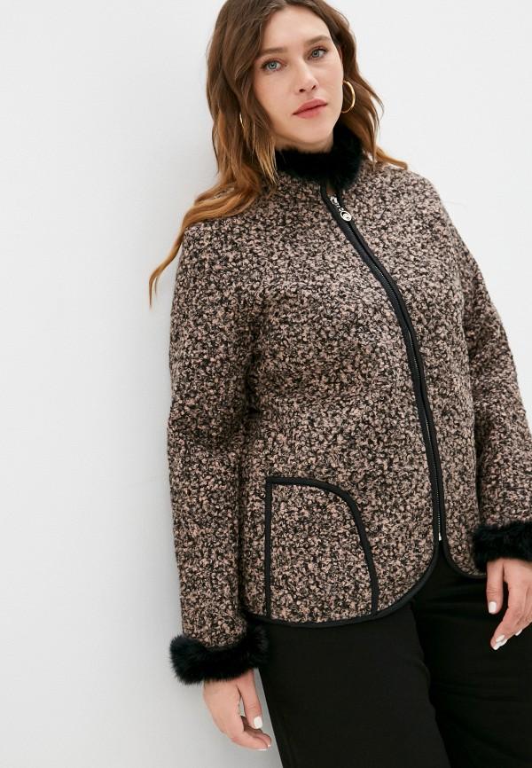 женское пальто milanika, коричневое