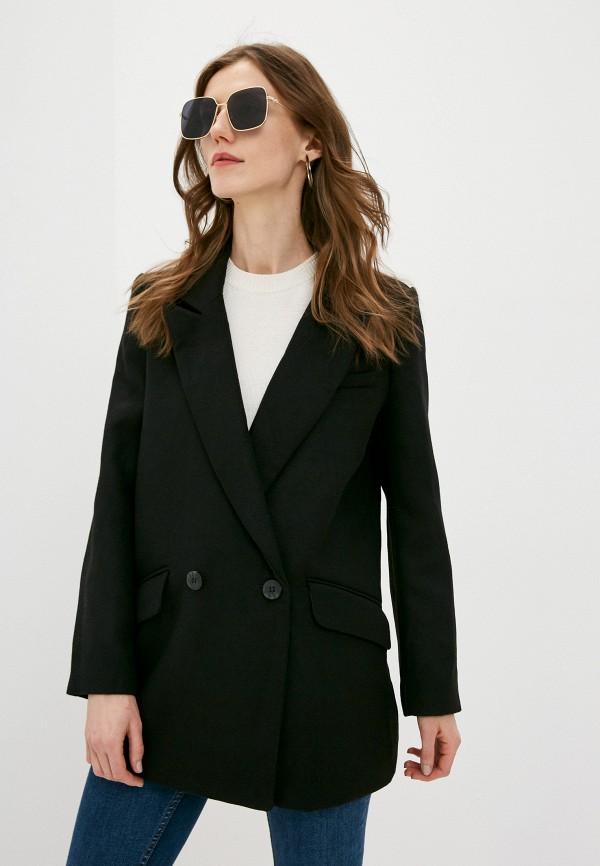 женское двубортные пальто w.sharvel, черное