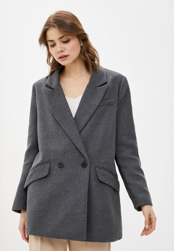 женское двубортные пальто w.sharvel, серое