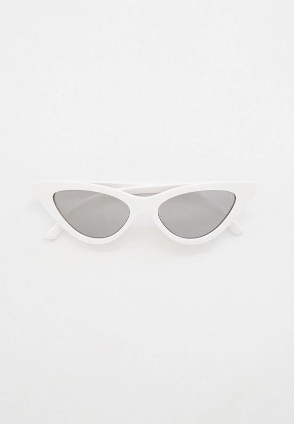 женские солнцезащитные очки кошачьи глаза keddo, белые
