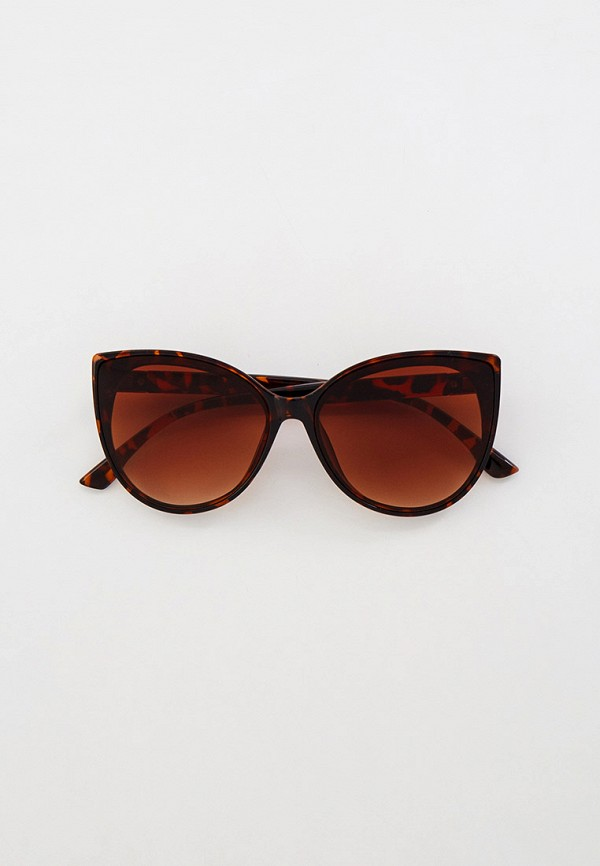 женские солнцезащитные очки кошачьи глаза keddo, коричневые