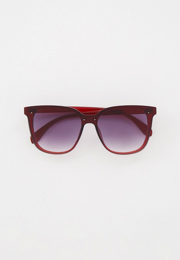 женские квадратные солнцезащитные очки keddo, бордовые