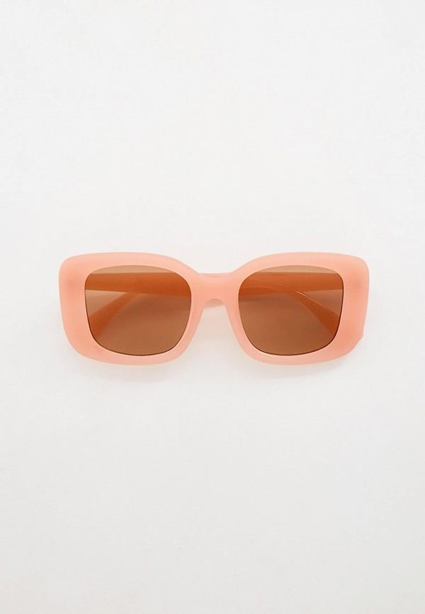 женские квадратные солнцезащитные очки keddo, розовые