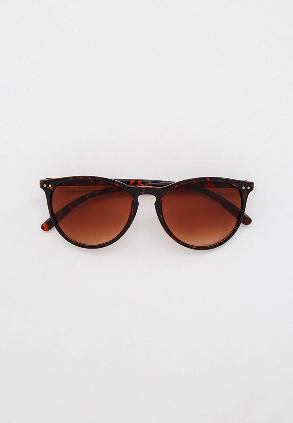 женские круглые солнцезащитные очки keddo, коричневые